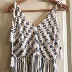 GB - Striped Maxi Dress - M